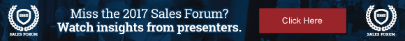 Miss the 2017 Sales Forum? Get insights from presenters